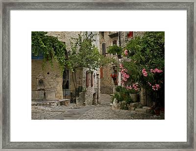 Village Walk Framed Print