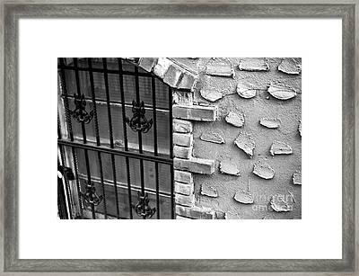 Village Window Framed Print by John Rizzuto