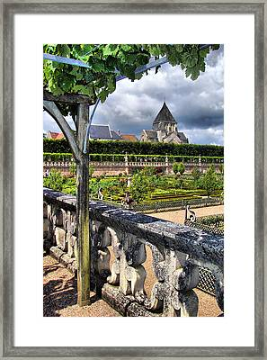 Villandry From The Chateau Framed Print by Nikolyn McDonald