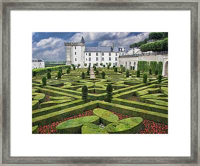 Villandry - Gardens - Chateau Framed Print by Nikolyn McDonald