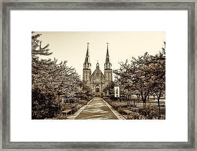 Villanova Cathedral In Sepia Framed Print