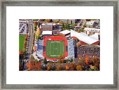 Villanova Stadium 800 East Lancaster Avenue Jake Nevin Fieldhouse Villanova Pa 19085  Framed Print by Duncan Pearson