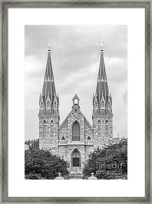 Villanova University St. Thomas Of Villanova Church Framed Print by University Icons