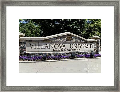 Villanova Framed Print