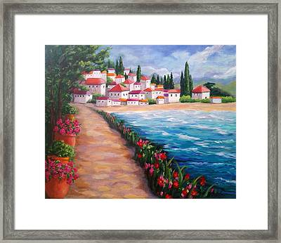 Villas By The Sea Framed Print
