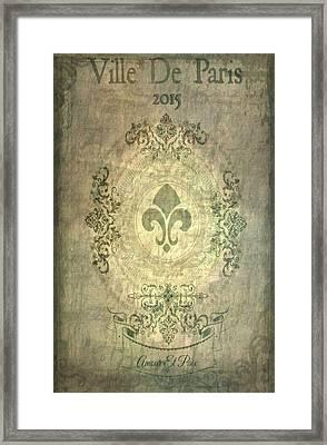 Ville De Paris 2015 Framed Print