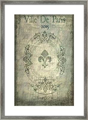 Ville De Paris Framed Print