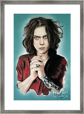 Ville Valo Framed Print by Melanie D