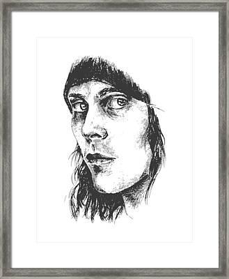 Ville Valo Portrait Framed Print