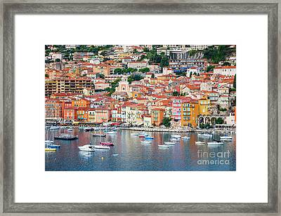Villefranche-sur-mer On French Riviera Framed Print