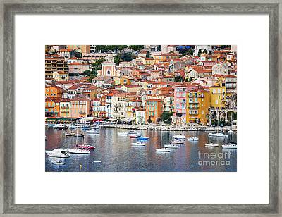 Villefranche-sur-mer View In French Riviera Framed Print by Elena Elisseeva