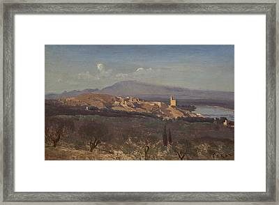 Villeneuve-les-avignon Framed Print by Jean-Baptiste-Camille Corot