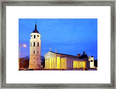 Framed Print featuring the photograph Vilnius Cathedral by Fabrizio Troiani