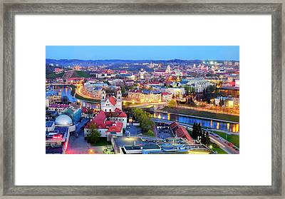Framed Print featuring the photograph Vilnius by Fabrizio Troiani