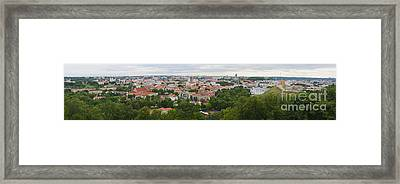 Vilnius Panorama From The Hill Of Three Crosses Framed Print by RicardMN Photography