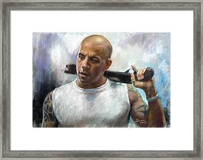 Vin Diesel Framed Print by Ylli Haruni