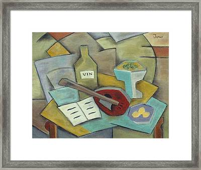 Vin Framed Print by Trish Toro