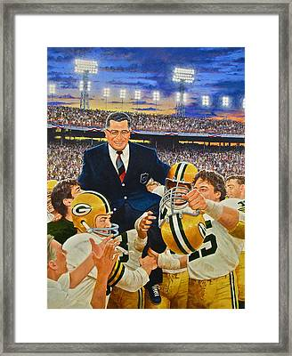 Framed Print featuring the painting Vince Lombardi by Cliff Spohn