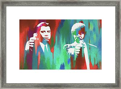 Vincent And Jules Framed Print by Dan Sproul