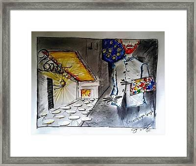 Vincent At The Night Cafe Framed Print by Jose A Gonzalez Jr