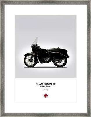 Vincent Black Knight 1955 Framed Print by Mark Rogan
