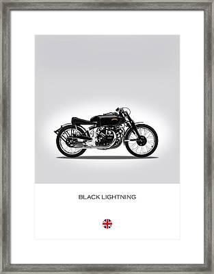 Vincent Black Lightning Framed Print