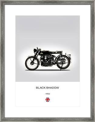Vincent Black Shadow 1952 Framed Print by Mark Rogan