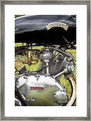 Vincent Comet Motorcycle Engine Framed Print