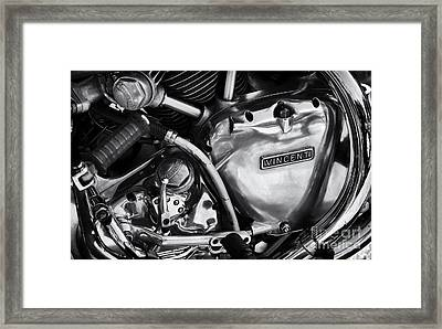 Vincent Engine Detail Framed Print by Tim Gainey