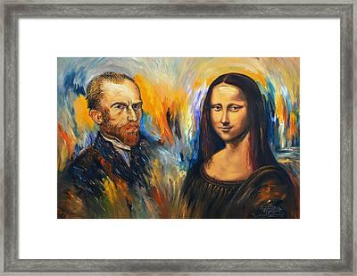 Vincent Meets Mona Lisa Xl 1 Framed Print by Peter Nottrott