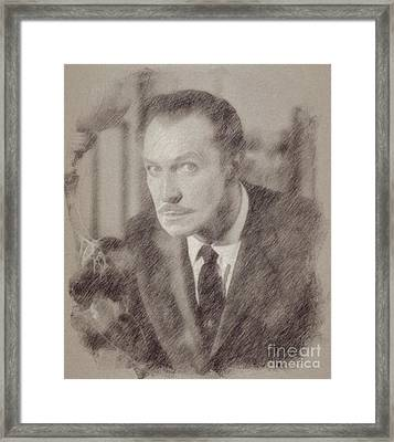 Vincent Price Hollywood Actor Framed Print