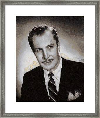 Vincent Price Hollywood Actor Framed Print by John Springfield