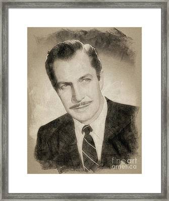 Vincent Price, Hollywood Legend By John Springfield Framed Print by John Springfield