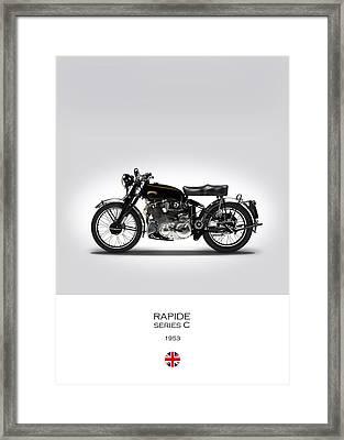 Vincent Rapide 1953 Framed Print by Mark Rogan