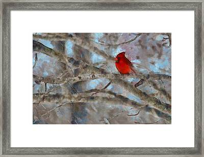 Framed Print featuring the mixed media Vincent by Trish Tritz