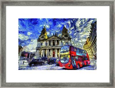 Vincent Van Gogh London Framed Print by David Pyatt