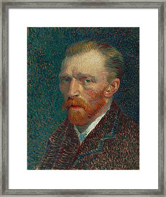 Vincent Van Gogh Self Portrait - 1887 Framed Print by War Is Hell Store