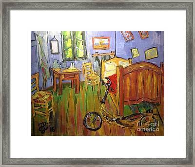 Vincent Van Go's Bedroom Framed Print