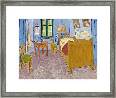 Vincent's Bedroom In Arles, 1889 Framed Print