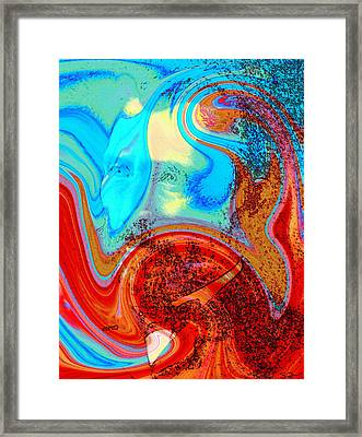 Vincent's Convulsions Framed Print by Abstract Angel Artist Stephen K