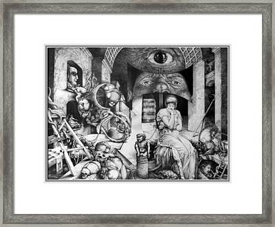 Vindobona Altarpiece IIi - Snakes And Ladders Framed Print by Otto Rapp