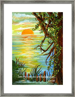Vine And Branches Framed Print by Elaine Hodges