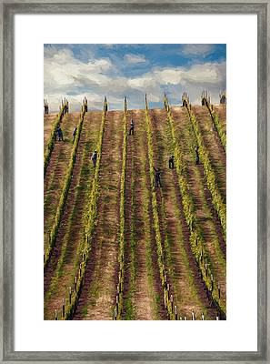 Vinedressers Framed Print by John K Woodruff