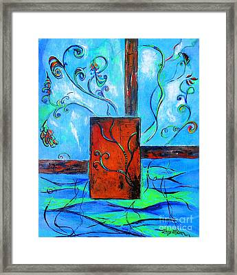 Vines Of Life  Framed Print by Lucy Max