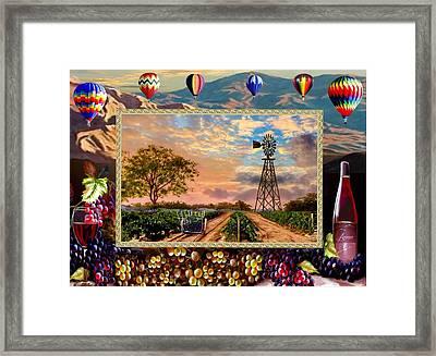 Vines To Wine Framed Print