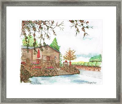 Vineyard -1-sonoma-ca Framed Print