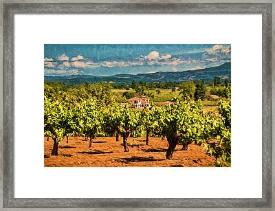 Vineyard Estate Framed Print by John K Woodruff