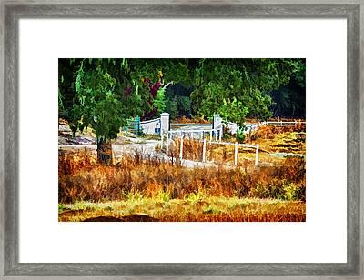 Vineyard Gate Framed Print by Patricia Stalter
