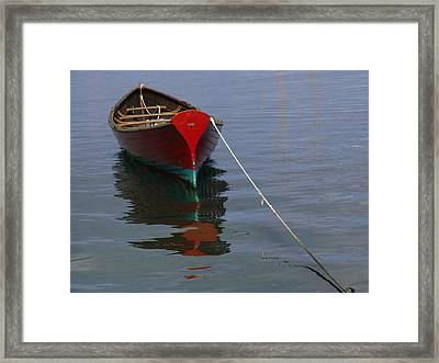Vineyard Haven Reflection Framed Print by Juergen Roth