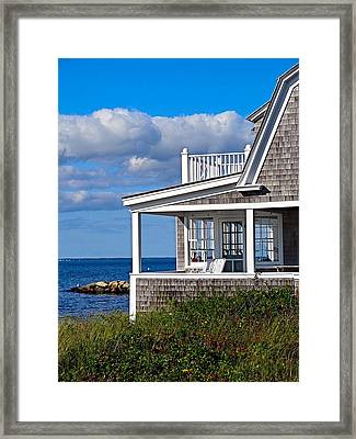 Vineyard Home Framed Print by Marnie Malone